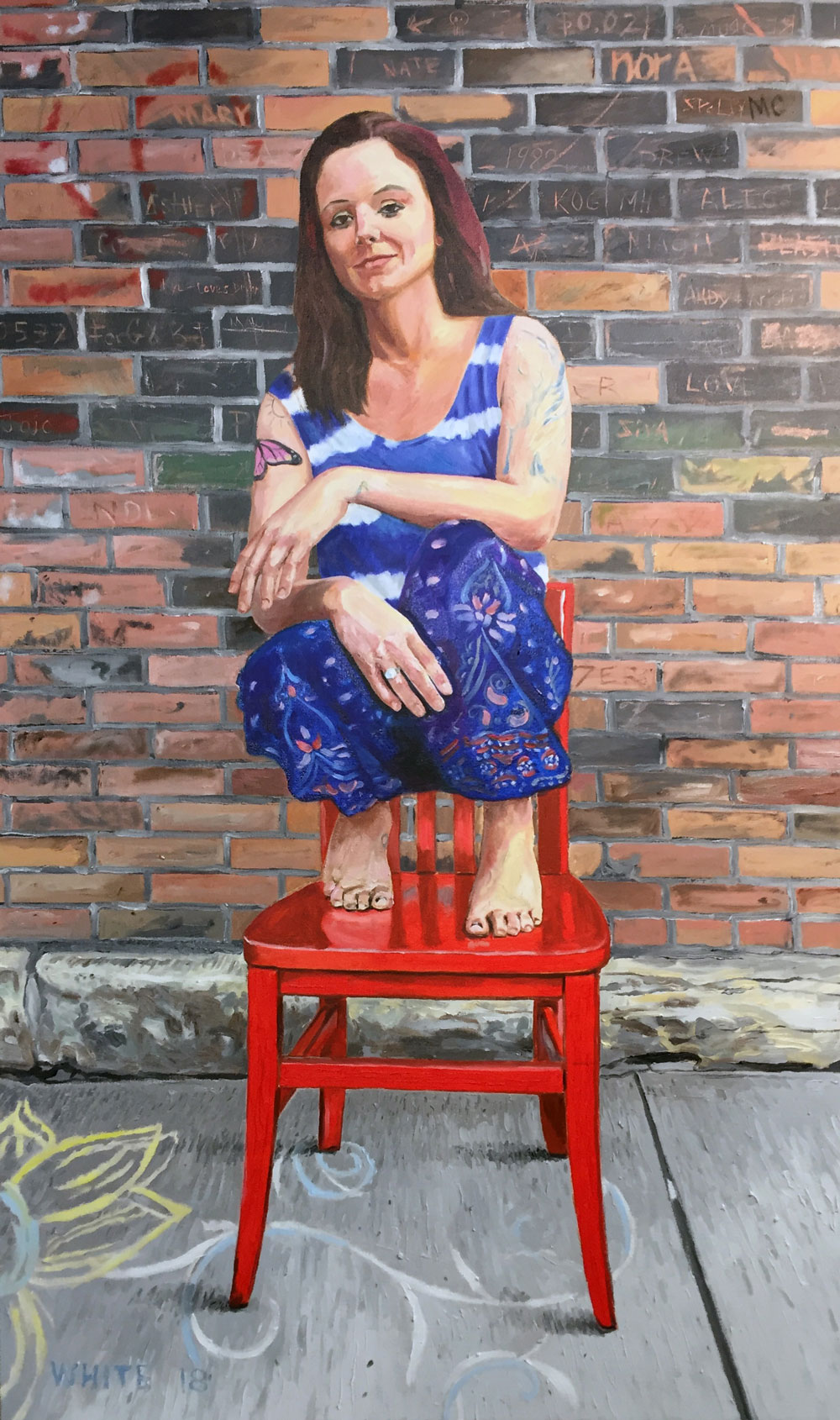 Reed White Mankato artist portrait painting of Kelsey